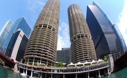 تحلیل و بررسی برج های دوقلو در شیکاگو به همراه پلان و تصاویر